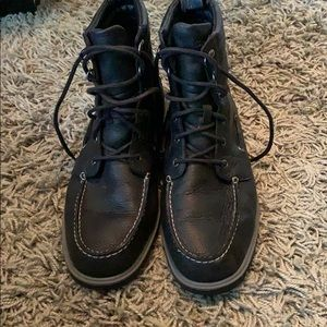Sperry topsider boot black leather